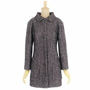Pole 2014aw P49855 Lion Button Tweed Coat Wool Outer Women And039s 36 No.1256