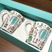 And Co Bone China 5th Avenue 2 Mug Cup Set In Gift Box From Jpn