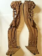 Antique Hand Carved Lion Wood Corbels Decorator Legs Furniture 26 Pair Salvaged