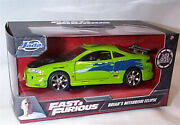 Fast And Furious Brians Mitsubishi Eclipse 1/32 Scale Diecast Jada 97689 Rb