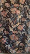 Beautiful Rare 19th Cent Exotic Floral Cotton Printed Fabric 2850