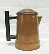 Vintage Camping Four 4 Cup Copper Coffee Pot Percolator Complete