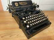 Rare 1912 Antique Royal No.5 Flatbed Staircase Typewriter Working W New Ink