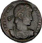 Constantine The Great - Imperial Roman Empire Bronze Coin With Certificate Of