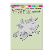 Stampendous House Mouse Fuchsia Flight Cling Mount Stamp Retired Hummingbirds