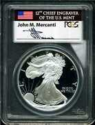 1993-p 1 Proof Silver American Eagle Pr69dcam Pcgs 28852349 Mercanti Signed