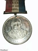 Antique International Order Of Odd Fellows Ioof Medal Reading Pa 1893