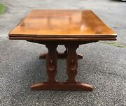 Cushman Colonial Extension Trestle Table By Herman Devries Unmarked