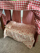 American Girl Doll Felicity Tall-post Bed And Bedding With Night Gown - Retired