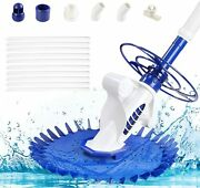 Automatic Swimming Pool Vacuum Cleaner Hover Climb In-ground Washer W/ Hose Set