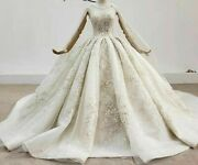 Wedding Dress Light Champagne With Shawl Sweetheart Yarn Sequins Appliques Shiny