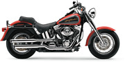 Cobra 3 Inch Slip-on Chrome Mufflers With Tips For 2007-2011 Hd Fatboy/deuce Mo