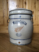 Vintage Red Wing Stoneware Crock Water Cooler With Lid
