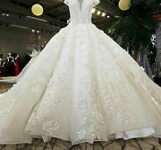 Ball Gowns Wedding Dress Sweetheart With Long Train Backless Lace Up Organza New