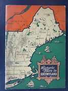 1925 Historic Tour Map Socony Mobil Oil Gas Illustrated 60 Pages New England Ny