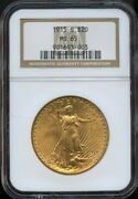 1915 S 20 Saint Gaudens Gold Double Eagle Ms 65 Ngc Great Color And Detail