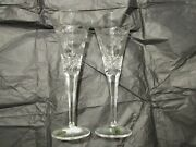Waterford Crystal Millennium Collection Toast Year 2000 Peace Toasting Flutes