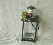 Vintage Metal Glass Metal Oil Perfume Traditional Bottle Old Collectibles Decor