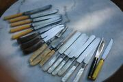 Antique Pearl Handle Table Knives Landers Frary And Clark And Hoffritz Knives Andandlot