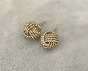 And Co. Sterling Silver Somerset Twist Mesh Knot Stud Earrings No Backs