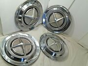 1962 1963 Dodge Hub Caps 14 Set Of 4 Stainless - H265