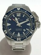 Hamilton Khaki Navy Open Water Automatic Watch Analog Stainless Steel Nvy Slv