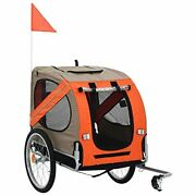 Pet Bike Trailer Cargo Cart For Small Dogs Bicycle Carrier Orange