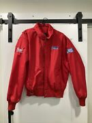 Budweiser Brewing Delivery Driver Red Jacket Beer Adult L Bud Light Made In Usa