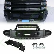 For 2015-2017 Silverado 2500 Front Bumper Face Bar Assembly Protector Led Lights