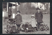 Real Photo Early Vintage Pedal Cars Wagon Children Toys Postcard Copy