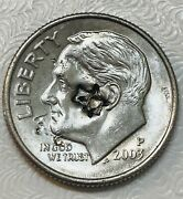 2003p Roosevelt Dime Extreme Error Coin High Grade Extremely Rare Authentic Coin