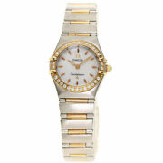 Omega Constellation Bezel Diamond Watches 1360.72 Stainless Steel/ssx18k Pin...