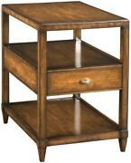 Chairside Table Brown/beige/tan Eucalyptus Rectangle Gre Wb-619