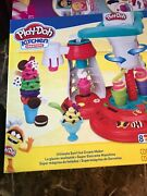 New Play-doh Kitchen Creations Ultimate Swirl Ice Cream Maker Play Food Set