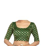 Traditional Women's Saree Blouse With Embroidered Sleeves Ap999