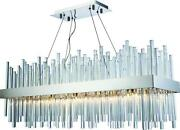Dallas Hanging Lamp Pendant Contemporary Adjustable Height 20-light Crys