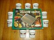 New Camerons Professional Stovetop Smoker And 9 Pints Of Chips
