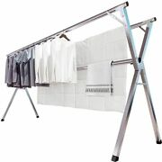 Jauree Clothes Drying Rack 2m/79 Inches Stainless Steel Garment Rack Adjustable
