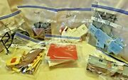 Lot Of 10 Vintage O Scale Train Layout Buildings And Acc. Partially Assembled