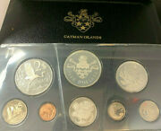 Cayman Islands 1974 Proof 8 Coin Set 4 Coins Silver 2.77 Oz Asw Box Sealed