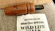 Vintage 1966 Lee Wulff White Owl Cigar Wild Life Crow Call W/ Instruction And Box