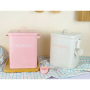 Kitchen Iron Storage Canister Laundry Space Storage Tin Box For Laundry Room