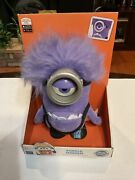 Despicable Me 2 Plush Talking Purple Minion With Glowing Eye New Thinkway Toys.