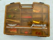 Vintage Fenwick 30 Double Sided Fish Tackle Box Loaded