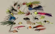 25 Fly Fishing Bass And Panfish Poppers And Flies. Various Sizes/variations