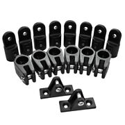 16 Pieces / Set Boat Deck Hinge Jaw Slide Eye End Cap For 4 Bow Bimini Top