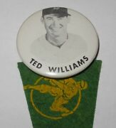 1950's Baseball Pin Button Coin Ted Williams Boston Red Sox Pinback Pennant
