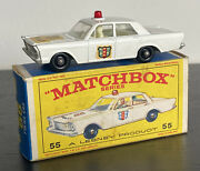 Matchbox Lesney 55c Ford Galaxie Police Car Red Light Door Decals