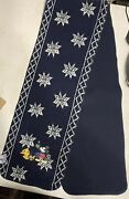 Disney Store Adult Blue Sherpa Scarf Mickey Mouse New 4andrsquo5