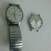 Lot Of 2 Seiko Automatic 1901 Gruen Precision Vintage Antique Watches Untested